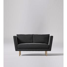 image-Swoon Mytilini Two-Seater Sofa in Anthracite Smart Wool With Light Feet