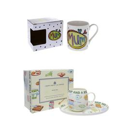 image-Christmas Hamper for Mum 2 Piece Bone China Mug Mercury Row