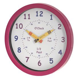 image-Henley Children's Learn the Time 25cm Silent Wall Clock