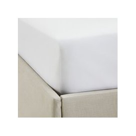 image-Single Row Cord Egyptian Cotton Fitted Sheet , White, Cot Bed