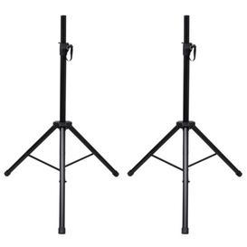image-Height-Adjustable Speaker Stand Set Symple Stuff