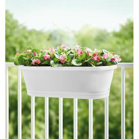 image-Corsica Plastic Balcony Planter ELHO Colour: White
