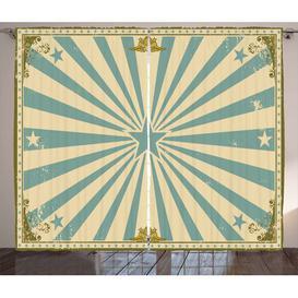 image-Circus Pinch Pleat Blackout Thermal Curtains East Urban Home Dimensions per curtain: 260cm H x 140cm W