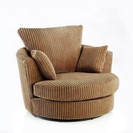 image-Swivel Tub Chair Zipcode Design Upholstery: Coffee