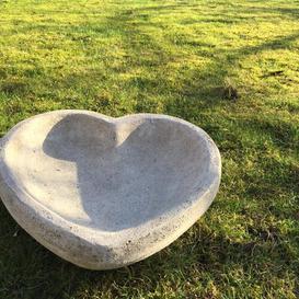 image-Heart Birdbath Sol 72 Outdoor