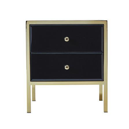 image-Fenwick 2 Drawer Bedside Table Black
