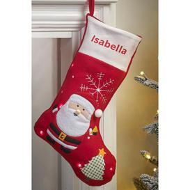 image-Personalised Light-Up Santa Stocking