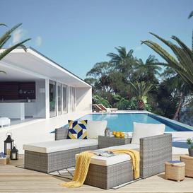 image-Alouetta Garden Corner Sofa with Cushions Sol 72 Outdoor