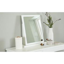 image-Pembroke White Small Dressing Table Mirror