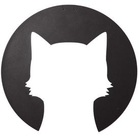 image-Cat Shadow Geometric Metal Wall Décor East Urban Home