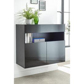 image-Galicia Wall Mounted Sideboard with LED Lights