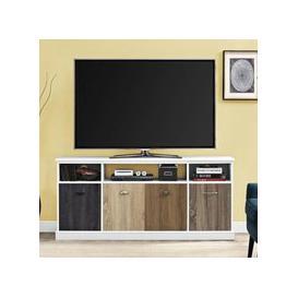 image-Mercer Wooden Medium TV Stand In White