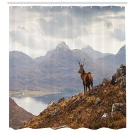 image-Deer Polyester Shower Curtain East Urban Home Size: 180cm H x 175cm W
