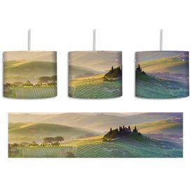 image-Misty Tuscan Landscape 1-Light Drum Pendant East Urban Home Shade Colour: Green