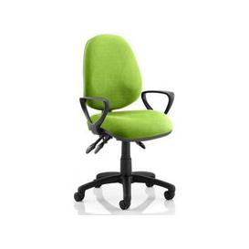 image-Luna III Office Chair In Myrrh Green With Loop Arms