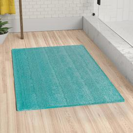 image-Maryanne Bath Mat Zipcode Design Colour: Emerald, Size: 60cm W x 90cm L