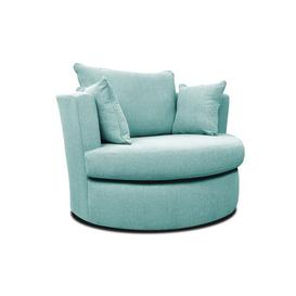 image-Ventura Swivel Tub Chair Brambly Cottage Upholstery Colour: Turquoise