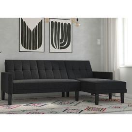 image-Valentina 3 Seater Corner Sofa Bed - Dark grey