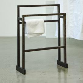 image-Ashford Free Standing Towel Rack Natur Pur Finish: Dark Oak