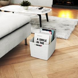 image-Curver Jute Large Storage Basket 20L Off-White