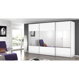 image-3 Door Sliding Wardrobe Rauch Colour: White, Size: H223 x W360 x D69cm, Interior Option: Standard