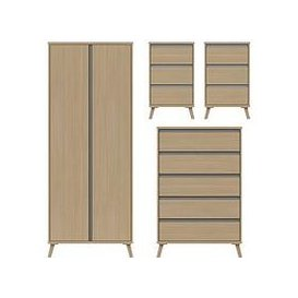 image-Miller Ready Assembled Package - 2 Door Wardrobe, 5 Drawer Chest And 2 Bedside Chests