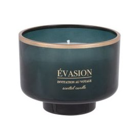 image-Scented Candle in Green Tinted Glass Holder