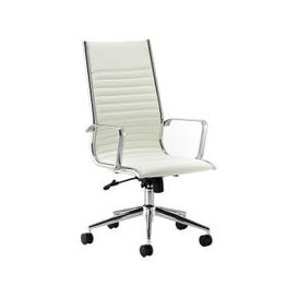 image-Barcelo High Back Leather Faced Executive Chair, White