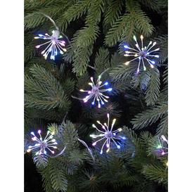 image-Festive Set of 10 Twinkling LED Starburst Lights - Multi