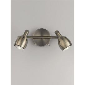 image-SP9012 Lazio 2 Light Wall Light In Bronze With Fully Adjustable Spotlights