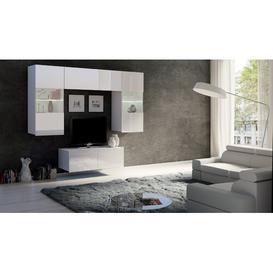 "image-Woodrum Entertainment Unit for TVs up to 39\"" Metro Lane Colour: White Gloss"