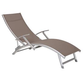 image-Mared Reclining Sun Lounger Sol 72 Outdoor Colour (Textile): Black