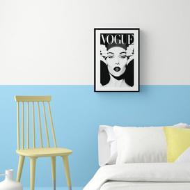 image-'Vintage Magazine Cover 002' Framed Graphic Art Print East Urban Home Frame Options: White, Size: 63 cm H x 45 cm W