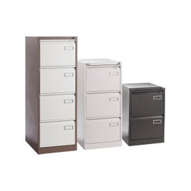 image-Executive Filing Cabinet, Grey, Free Next Day Delivery