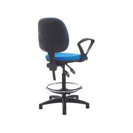 image-Point Draughtsman Chair With Fixed Arms, Scuba