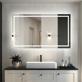 image-1000X600  Large Illuminated Bathroom Mirror With LED Lights,Wall Mounted,IP44