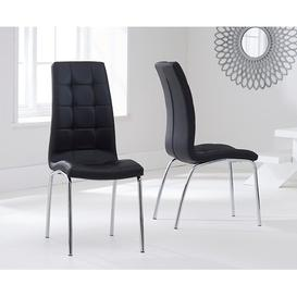image-Tekla Dining Set with 4 Chairs Mercury Row Colour (Chair): Black