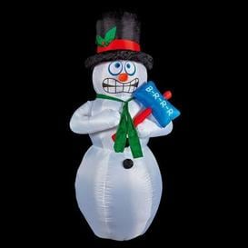 image-4 LED White Outdoor Inflatable Snowman Christmas Decoration Mains 5M