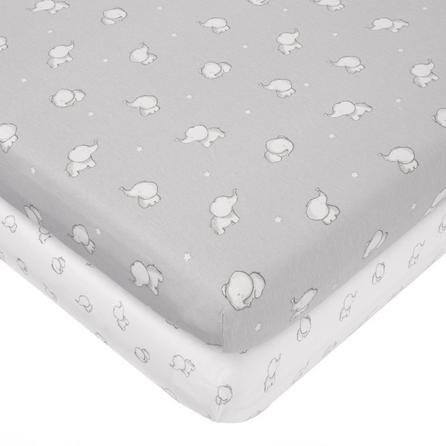 image-Tiny But Mighty Jersey Pack of 2 Cot Fitted Sheets Grey