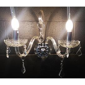 image-Annapolis 2-Light Candle Wall Light Rosdorf Park Fixture Finish: Chrome