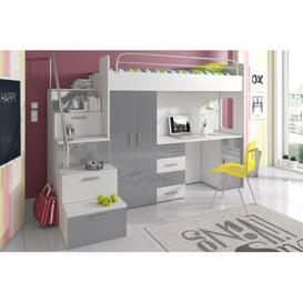 image-Asturia High Sleeper Bedroom Set Selsey Living Colour: Grey