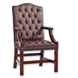 image-Hogsett Leather Executive Chair Rosalind Wheeler Colour (Upholstery): Birch Black