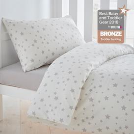 image-Safe Nights Nursery Cot Bed Duvet Cover & Pillowcase Set Silentnight Colour: Grey