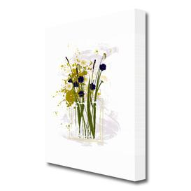 image-'Vase Flowers' Painting Print on Canvas East Urban Home