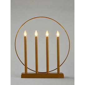image-Candle Room Light Christmas Decoration - Matt Gold