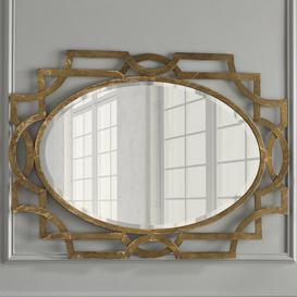 image-Gold Oval Accent Mirror Willa Arlo Interiors