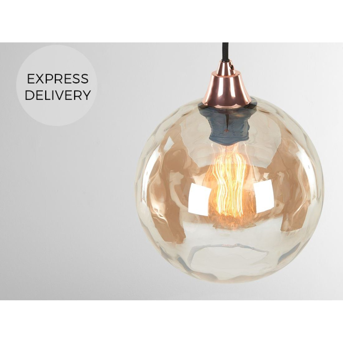 image-Ilaria Pendant Lamp Shade Round, Champagne
