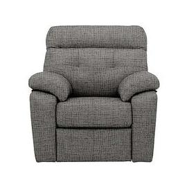 image-G Plan - Miller Fabric Power Recliner Armchair - Grey
