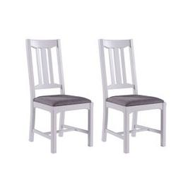 image-Classic Georgia Dining Chair (Pair) - Grey Painted
