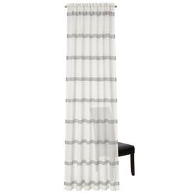 image-Fordwich Slot Top Semi Sheer Curtain August Grove Colour: Wool White/Silver